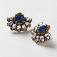 Fanned Petal Posts by Baublebar x Anthropologie Navy One Size Earrings