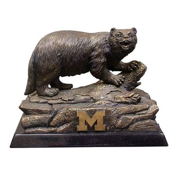 Michigan Wolverines Tim Wolfe Sculpture (Brown)