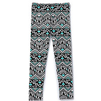 Copper Key 7-16 Tribal Heart Print Leggings - Mint