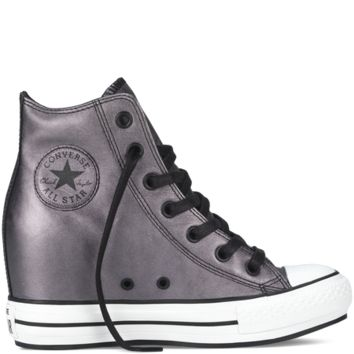 Converse - Chuck Taylor All Star Metallic Platform Plus - Black - Hi 012d1a4f9713
