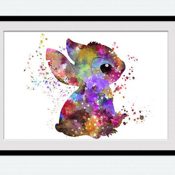 Disney Stitch art print Stitch colorful poster Disney art decor Home decoration Kids room wall art Nursery room decor Birthday gift W490