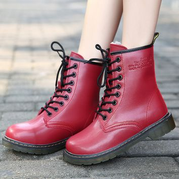 Women's Vintage Leather Boots Shoes