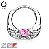 Angel Wings with Heart Septum Clicker