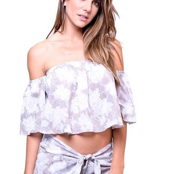 Dbrie - Floral Top and Shorts Set