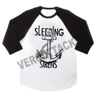 sleeping with sirens anchor raglan unisex tee shirt for adult men and women