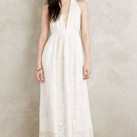 Moulinette Soeurs Amandine Maxi Dress in Ivory Size: