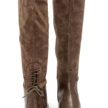 Luichiny Pray Tell Taupe Suede Leather Riding Boots