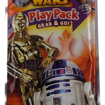 Star Wars Play Pack R2D2 C3PO Grab Go Set 12 Coloring Book Crayons Stickers
