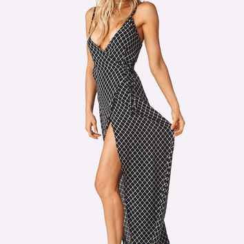 Flynn Skye | Wrap Around Maxi Dress (Chain Me Up)