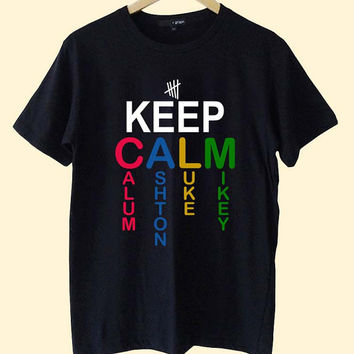 keep calm 5 second of summer  clothing T Shirt Mens and T Shirt Girls customized