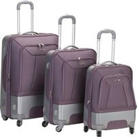 Rockland Luggage Rome Polycarbonate 3 Piece Luggage Set