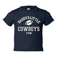 DADDYS LITTLE COWBOYS Fan Adorable Toddler Tshirt Or Creeper Great Dallas Cowboys Tshirt Football Printed Tee