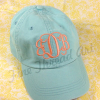 LADIES Monogram Baseball Cap Hat 35 colors to by finethreadart