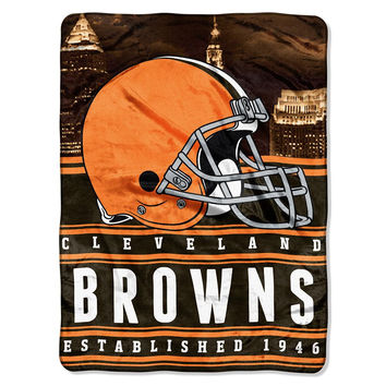 Cleveland Browns NFL Silk Touch Throw (Stacked Series) (60inx80in)