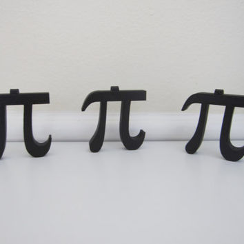 3-D Printed Pi Silhouette Christmas Ornaments Tree Holiday 3D Print Geekery Pi Symbol Math Teacher Decoration Greek Letters Science 3-D