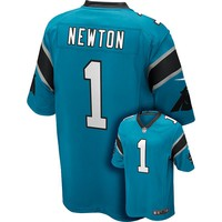 Nike Carolina Panthers Cam Newton Game NFL Replica Jersey - Men, Size: