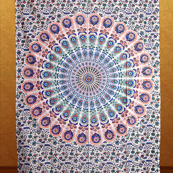 Small Mandala Tapestry Tapestries,Tapestry Wall Hanging,Mandala Tapestries,Hippie wall tapestries,Bohemian Dorm Tapestry,Indian Tapestry,
