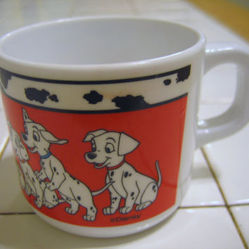 Children's Cup Disney Dalmations Vintage by RoadtoKohala on Etsy