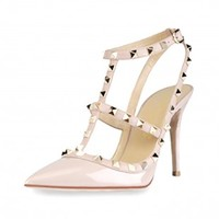 High Heel Pumps Stud Strappy Sexy Personalized Shoes US