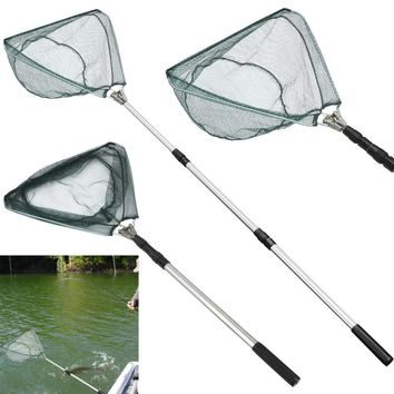 Good Quality Safe Catch and Release Fish Landing Hand Net Telescoping Handle Foldable Hoop Fishnet #S0