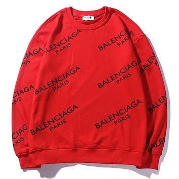 Balenciaga Women or Men Fashion Casual Loose Top Sweater