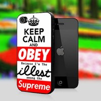 Obey ILLEST Keep Calm - Print On Hard Cover For iPhone 4,4S