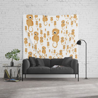 Sea horses Pattern Wall Tapestry by vanessagf