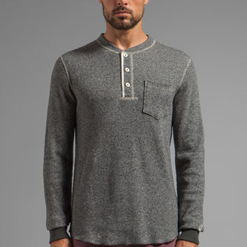 TODD SNYDER + Champion Henley in Salt/ Pepper from REVOLVEclothing.com