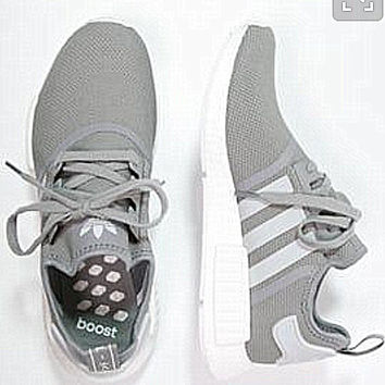 """Adidas"" Women Fashion Trending Running Sports NMD Shoes Grey"