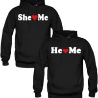 SHE LOVE ME HE LOVE ME  DESIGNED Couple Hoodie
