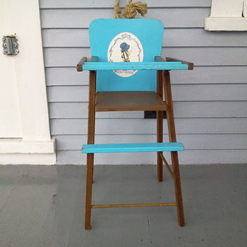 Vintage Children's Doll High Chair, Holly Hobby