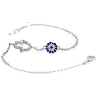 Stylish Evil Eye Blue Bracelet or Anklet Jewelry - Good Luck Charm