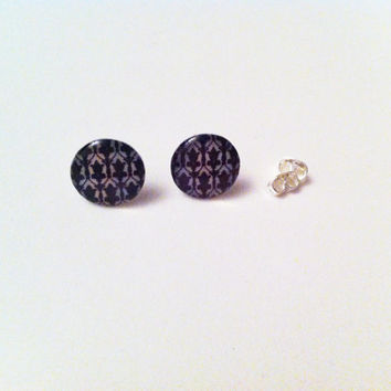 Sherlock Wallpaper Earrings