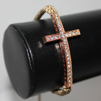 Instafashion — Tan Pink Cross Bracelet
