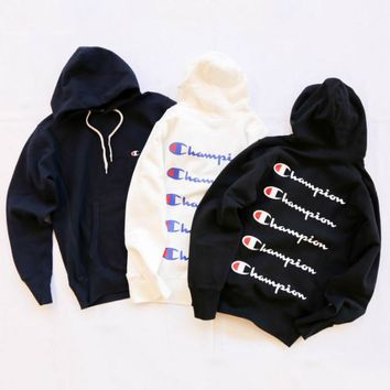 Champion Long Sleeve Hedging Pullover Sweater Hoodies G-AGG-CZDL