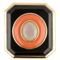 House of Harlow 1960 Jewelry Enameled Art Deco Ring