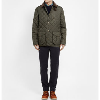 Polo Ralph Lauren - Danbury Corduroy-Collar Quilted Jacket | MR PORTER