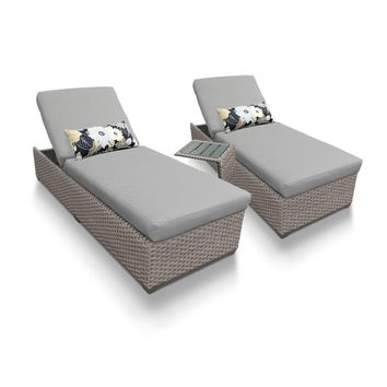 Florence Chaise Set 2 Outdoor Furniture w/ Side Table | Overstock.com Shopping - The Best Deals on Chaise Lounges