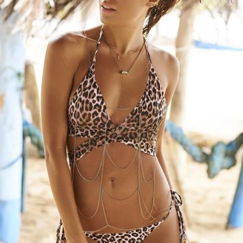 Malai Swimwear Triangle Bikini Set - Marine Leopardasy