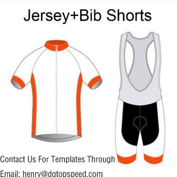 High Quality Custom Cycling Jersey And Bib Shorts Set DIY Bicycle Wear Polyester + LyCra Any Color Any Size Any Design