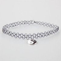 Yin Yang Tattoo Choker Black One Size For Women 25928810001