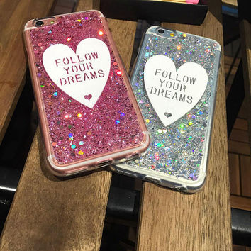 Bling Bling Follow Your Dreams Glitter Case