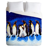 Renie Britenbucher Penguin Party Duvet Cover