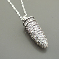Pyrite Necklace - Gold Necklace - Silver Necklace - Bullet Necklace - Pave Necklace - Mixed Metal Necklace - handmade jewelry