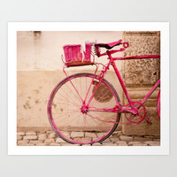 Lady in Pink Art Print by Hello Twiggs