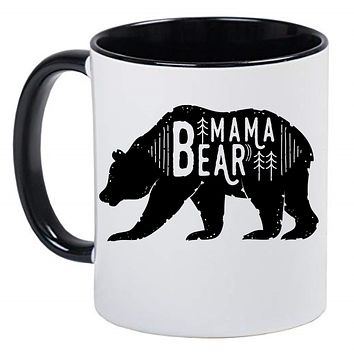 Mama Bear Cute Farmhouse Mug Coffee Cup, Gift for Her, Farmhouse Decor, Gift for Women, Hot Chocolate, 11 Ounce Ceramic Mug