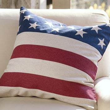 AMERICAN FLAG PILLOW COVER