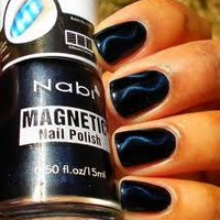 Nabi Navy Blue Dark Magnetic Art Magnet Nail Polish Arrow Line Pattern Free Shipping from TheNoirStar