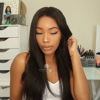 360 Lace Wig 180% Density Silky Straight Indian Hair [TLW11]