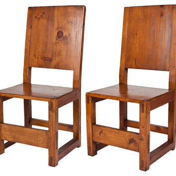 Spanish Colonial-Style Chairs, Pair
